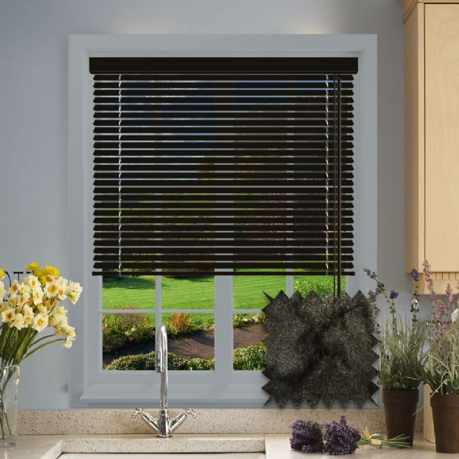 Marble Black venetian blind pattern - Just Blinds